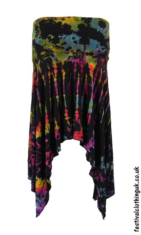 Pixie-Hem-Tie-Dye-Festival-Skirt-Multicoloured