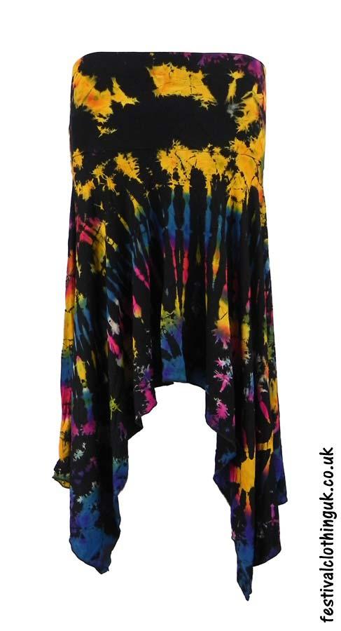Pixie-Hem-Tie-Dye-Festival-Skirt-Multicoloured