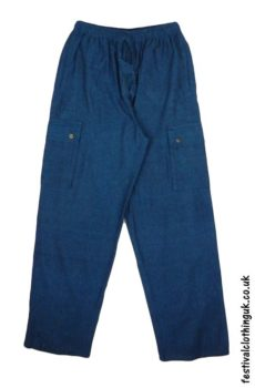 Plain-Festival-Cargo-Trousers-Blue