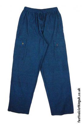 Plain-Festival-Cargo-Trousers-Blue