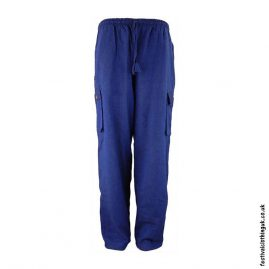 Plain-Festival-Cargo-Trousers-Blue-New