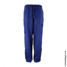 Plain-Festival-Cargo-Trousers-Blue-New