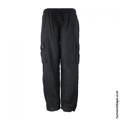 Plain-Festival-Cargo-Trousers-Charcoal