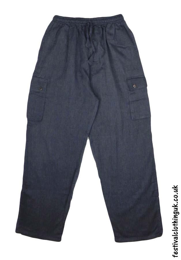 Plain-Festival-Cargo-Trousers-Charcoal