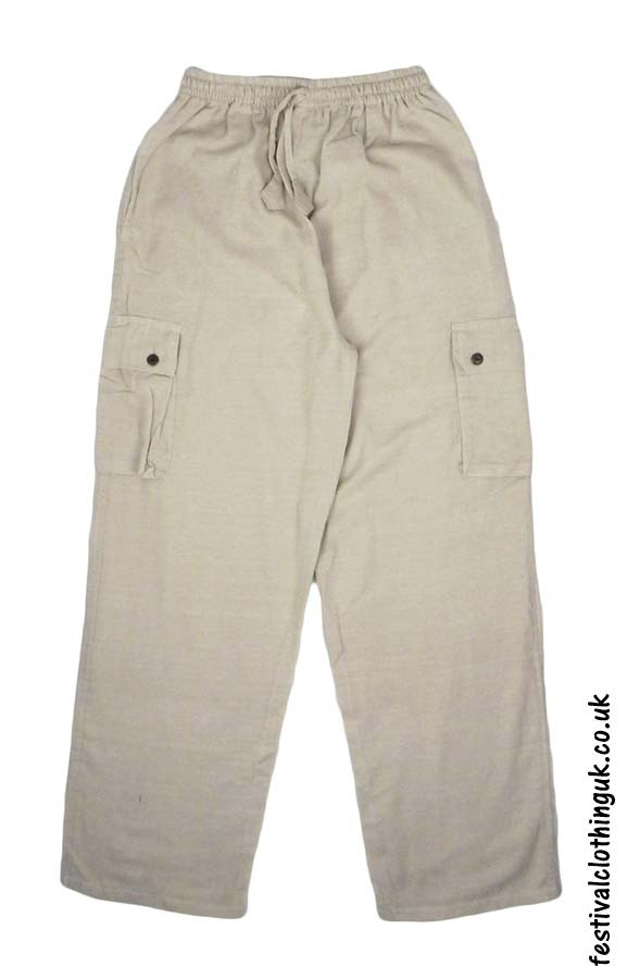 Plain-Festival-Cargo-Trousers-Cream