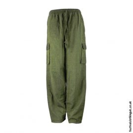 Plain-Festival-Cargo-Trousers-Green-new