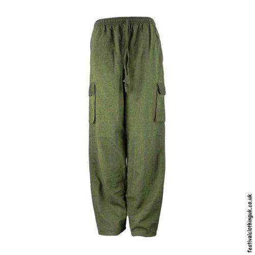 Plain-Festival-Cargo-Trousers-Green-new