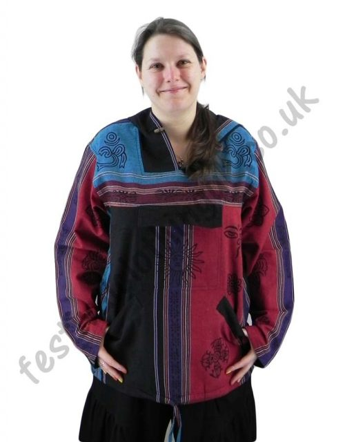 Printed-Hooded-Pull-Over-Festival-Top-Female