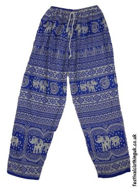 Printed-Rayon-Festival-Trousers-Elephant-Blue