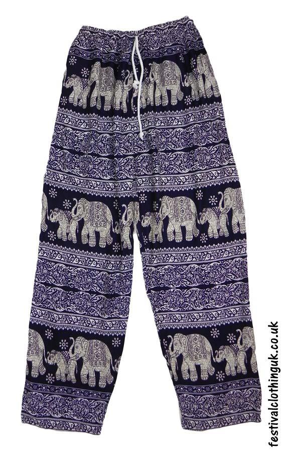 Printed-Rayon-Festival-Trousers-Elephant-Dark-Blue
