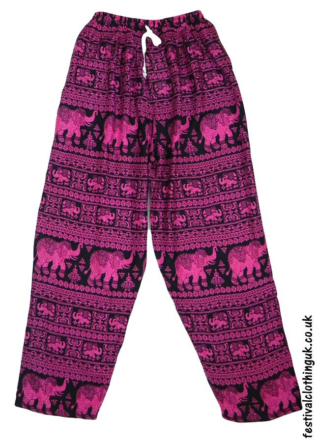 Printed-Rayon-Festival-Trousers-Elephant-Pink