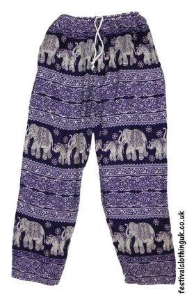 Printed-Rayon-Festival-Trousers-Elephant-Purple