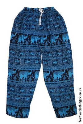 Printed-Rayon-Festival-Trousers-Elephant-Turquoise