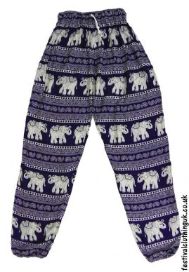 Printed-Rayon-Festival-Trousers-Purple