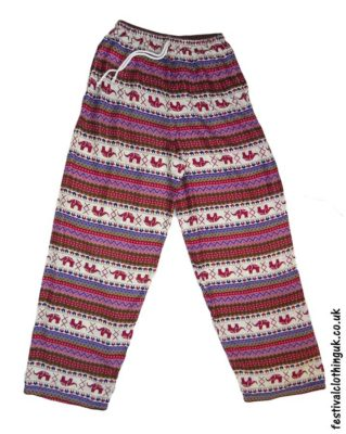 Rayon-Festival-Trousers-Burgundy-Pink