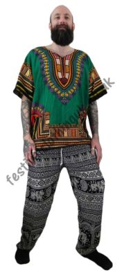 Printed Rayon Festival Trousers - Male