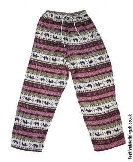 Rayon-Festival-Trousers-Purple-Pink-Green