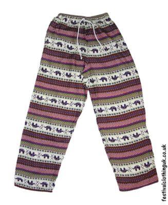 Rayon-Festival-Trousers-Purple-Pink-Green