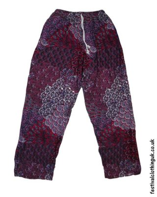 Rayon-Festival-Trousers-Red
