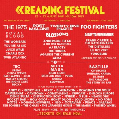 Reading Festival 2019 - Additional Artists Announced