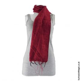 Red-Nepalese-Acrylic-Festival-Scarf