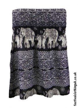 Short-Elephant-Festival-Mini-Skirt-Black