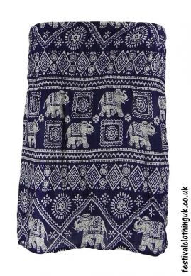 Short-Elephant-Festival-Mini-Skirt-Blue