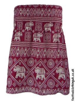 Short-Elephant-Festival-Mini-Skirt-Burgundy