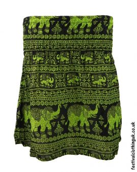 Short-Elephant-Festival-Mini-Skirt-Green