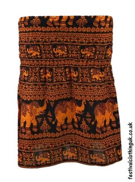 Short-Elephant-Festival-Mini-Skirt-Orange