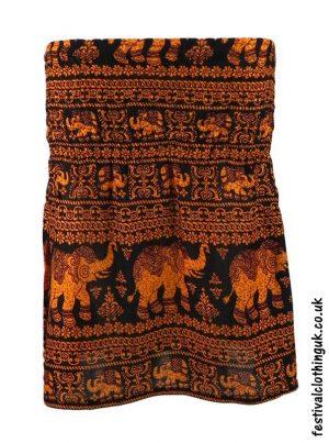 Short-Elephant-Festival-Mini-Skirt-Orange