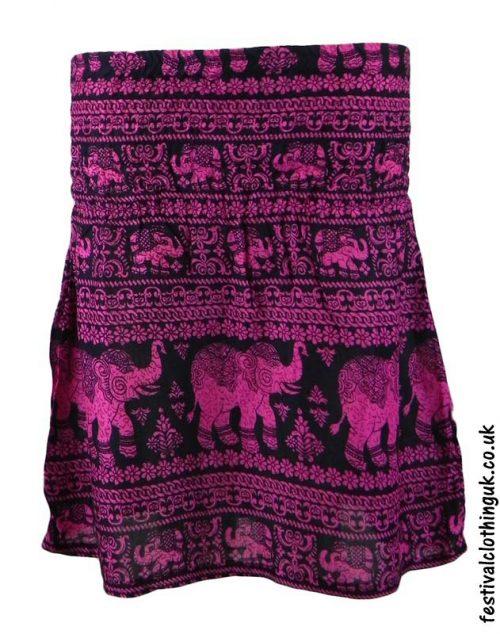 Short-Elephant-Festival-Mini-Skirt-Pink