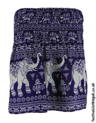 Short-Elephant-Festival-Mini-Skirt-Purple