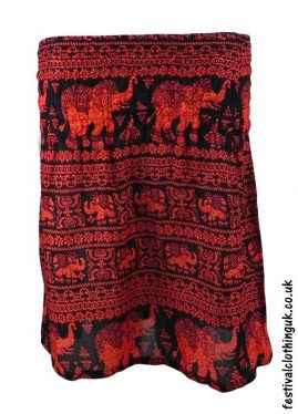 Short-Elephant-Festival-Mini-Skirt-Red