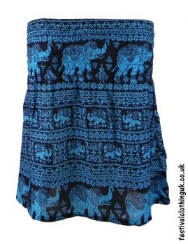 Short-Elephant-Festival-Mini-Skirt-Turquiose