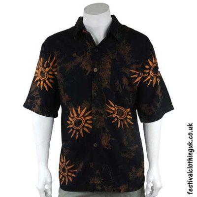 Short-Sleeve-Festival-Shirt-Black-&-Orange