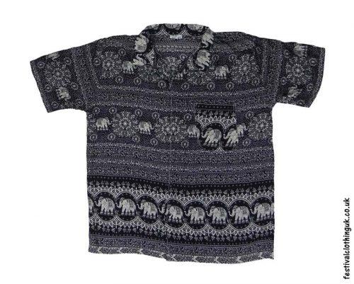 Short-Sleeve-Festival-Shirt-Black-&-White