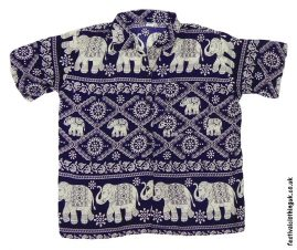Short-Sleeve-Festival-Shirt-Blue-Elephant