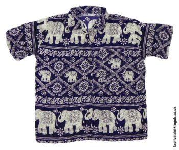 Short-Sleeve-Festival-Shirt-Blue-Elephant