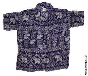Short-Sleeve-Festival-Shirt-Dark-Blue-Elephant