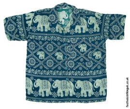 Short-Sleeve-Festival-Shirt-Green-Elephant