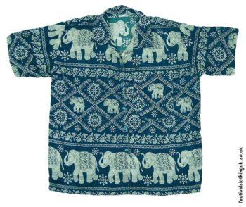 Short-Sleeve-Festival-Shirt-Green-Elephant