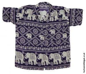Short-Sleeve-Festival-Shirt-Purple-Elephant