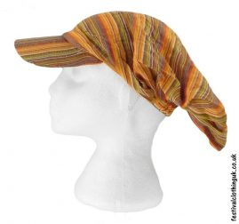 Striped-Headband-Cap-Festival-Hat-Orange