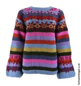 Swedish-Style-Wool-Jumper-Striped-Multicoloured