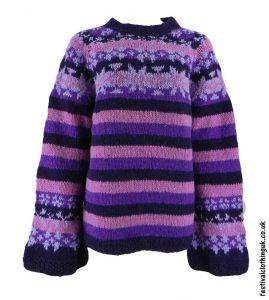 Swedish-Style-Wool-Jumper-Striped-Purple