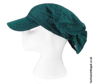 Teal-Cap-Headband-Festival-Hat