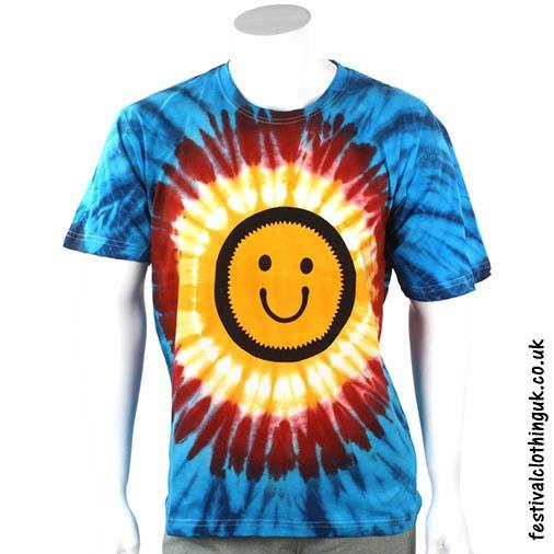 Tie-Dye-Cotton-Festival-T-Shirt-Smiley
