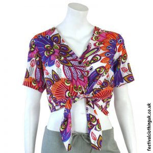 White-Multicoloured-Tropical-Tie-Festival-Crop-Top