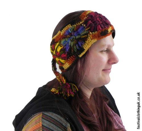 Wool-Festival-Headband-Brown
